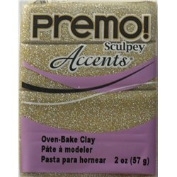 Premo! Accents Yellow Gold Glitter