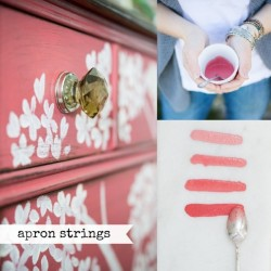 Milk Paint Apron Strings Tester