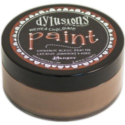 Melted Chocolate Paint Dylusions