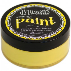 Lemon Zest Paint Dylusions