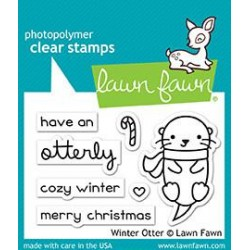 Sellos Lawn Fawn Winter Otter