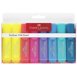 Set 8 Subrayadores Pastel Faber Castell