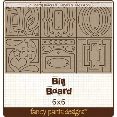 Big Board chipboard brakects, etiquetas y tags
