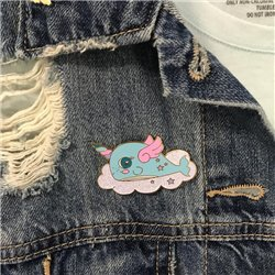 Pin Narval Unicornio kawaii