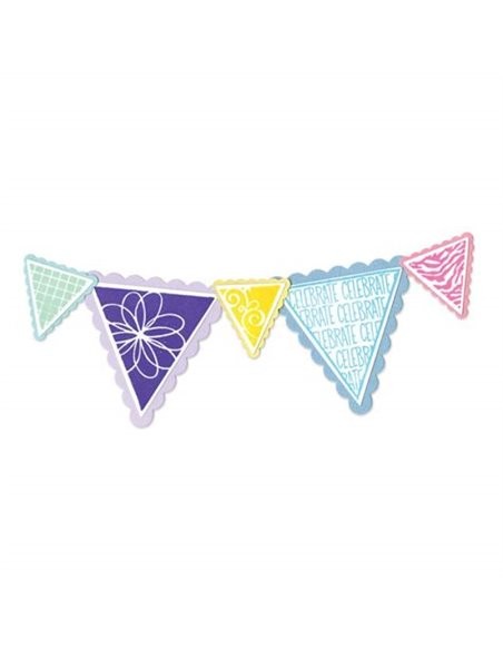 Set Sellos y Troqueles Banners Pennant