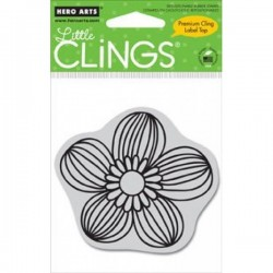 Sellos cling Line Flower