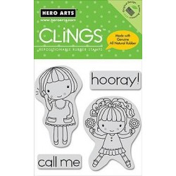 Sellos cling Happy Girls