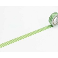 Washi Tape MT Border Light Green