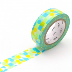 Washi Tape MT Maru Sankaku Shikaku Blue
