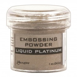 Polvo de Embossing Liquid Platinum