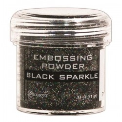 Polvo de Embossing Black Sparkle