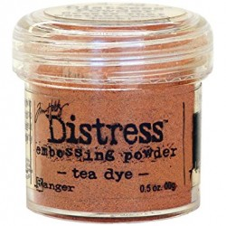 Polvo distress Embossing Tea Dye