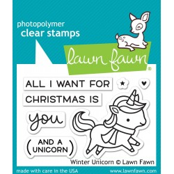 Sellos Lawn Fawn Winter Unicorn